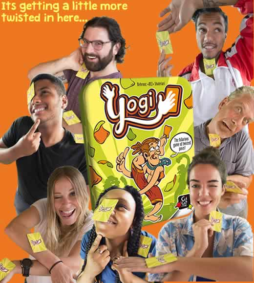 Yogi, the hilarious game of twisted poses