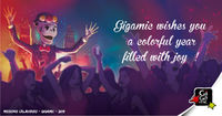 jeu de société - Gigamic wishes you a colorful year !